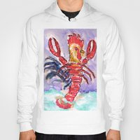 cock Hoodies featuring Cock Lobster by Taylor Winder