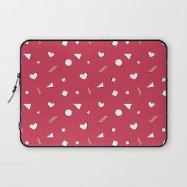 Red Symbol Pattern Laptop Sleeve