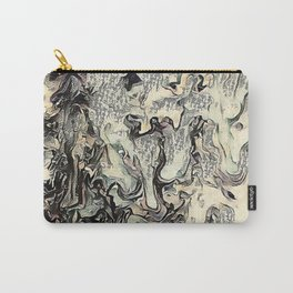 Texture Overlay Abstract Design Carry-All Pouch