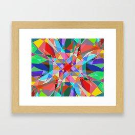 Multicolored Kaleidescope Abstract Framed Art Print