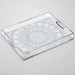 Cool Gray Mandala Simplistic Bold Minimal Minimalistic Acrylic Tray