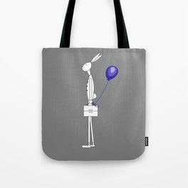 Bunny with balloon Tote Bag