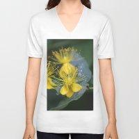 copenhagen V-neck T-shirts featuring Copenhagen Yellow by Abby Hoffman