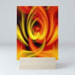 Christmas Candle Flames Of Love Mini Art Print