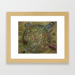 Astranella Map Framed Art Print