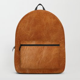 Rustic ginger smooth natural brown leather, vintage nature texture Backpack