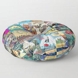 Amusement Rides Floor Pillow
