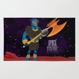 Space Viking (in Space) Rug