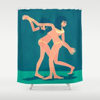egypt Shower Curtains featuring ancient egypt no.1 by namaki