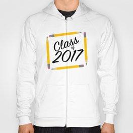 Class of 2017, black font Hoody