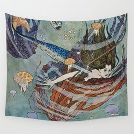 """""""The Little Mermaid"""" by Edmund Dulac Wall Tapestry"""