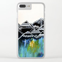 Black Mountain Clear iPhone Case