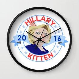 Hillary Kitten 2016 Wall Clock