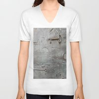 key V-neck T-shirts featuring key by Joan-Ma Espinosa