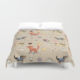 Dogs & Donuts Duvet Cover