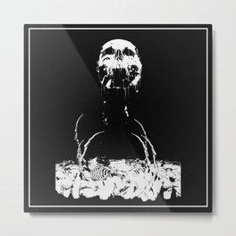 Decaying Skull Metal Print