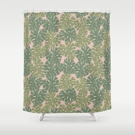 Monstera leaves Shower Curtain