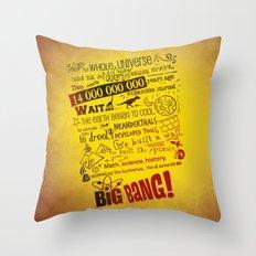 Big Bang Theory Lyrics Throw Pillow