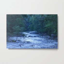 River in Blue Metal Print