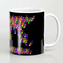 World Map Music Notes Coffee Mug