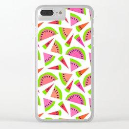 Juicy, juicy watermelon ... Clear iPhone Case
