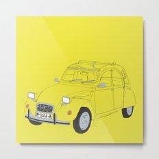 Citroën 2CV Metal Print