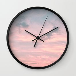 Pink and Blue Skyscape Wall Clock