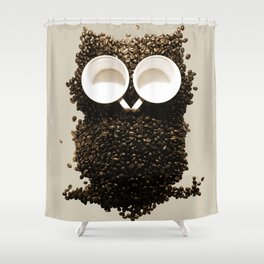 Hoot! Night Owl! Shower Curtain
