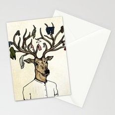 Evicted deer Stationery Cards