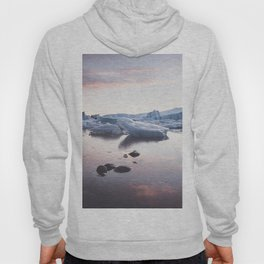 Sunset over Glacier Lagoon - Landscape and Nature Photography Hoody