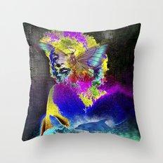 Marilin butterfly dolphin  Throw Pillow