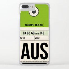 AUS Austin Luggage Tag 1 Clear iPhone Case