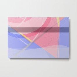 Pattern colors 2016 rose quarz and serenity blue Version 4 Metal Print