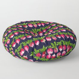Watercolor radish seamless pattern Floor Pillow