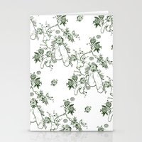 penis Stationery Cards featuring Penis Pattern GREEN by Daniel McLaren
