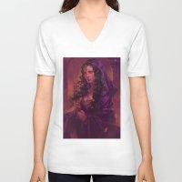 meme V-neck T-shirts featuring MEME 016 Morgana by mushroomtale