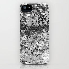 Sparkly Silver Glitter Confetti iPhone Case