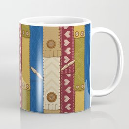 Scarves Knitted Buttoned Coffee Mug