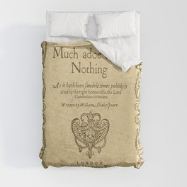 Shakespeare. Much adoe about nothing, 1600 Duvet Cover