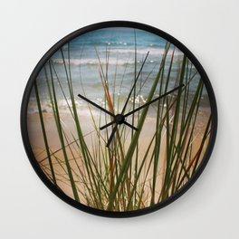 Behind the Grass (Lake Michigan Shore) Wall Clock