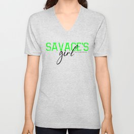 SAVAGE'S GIRL BLACK Unisex V-Neck