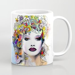 Fantasy Flower Girl Coffee Mug