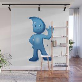 Water boy Cartoon Wall Mural