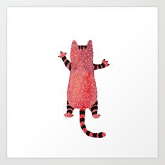 Red cat Art Print