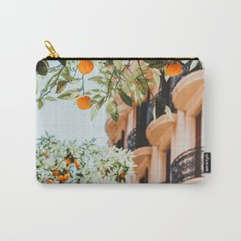 Orange Tree Fruits Print, Barcelona Spain Print, Orange Fruits Wall Art Print, Urban Photography, Tropical Summer Print Carry-All Pouch