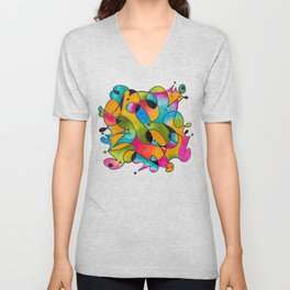 Abstract Gradient Critters Unisex V-Neck