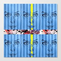 stripe Canvas Prints featuring stripe by Keith Cameron