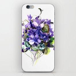 Violet flowers, wild violet flowers iPhone Skin