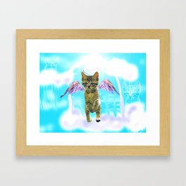 Angel cat Framed Art Print