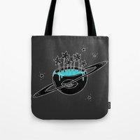 saturn Tote Bags featuring Saturn by shoooes